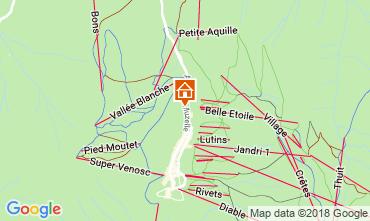 Map Les 2 Alpes Apartment 111899