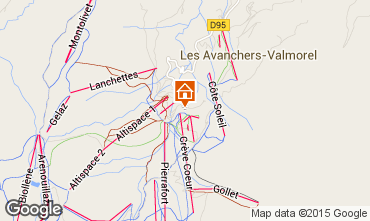 Map Valmorel Apartment 90512