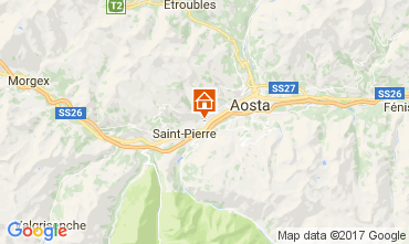 Map Aosta Apartment 73820