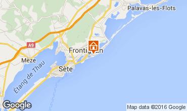 Map Frontignan Apartment 72313