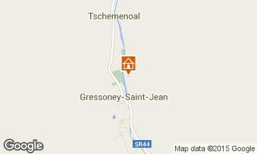 Map Gressoney Saint Jean Apartment 58532