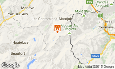 Map Les Contamines Montjoie One-room apartment 929
