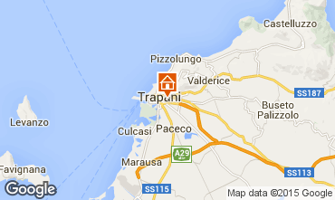 Map Trapani Apartment 92341
