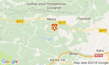 Map Perpignan Villa 115619