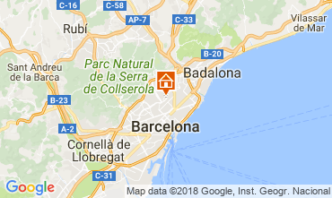 Map Barcelona Apartment 72336