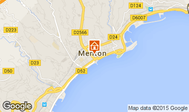 Map Menton Apartment 91364
