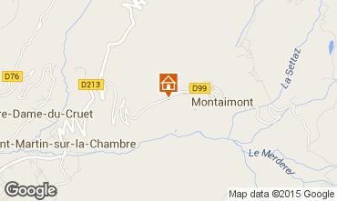 Map Saint François Longchamp Chalet 2522