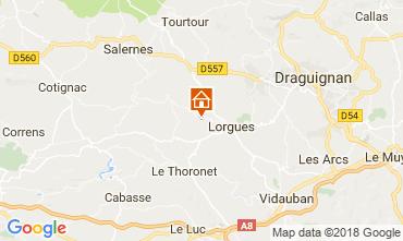 Map Lorgues Vacation rental 113817