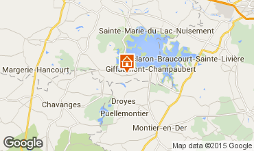 Map Giffaumont-Champaubert Vacation rental 12632