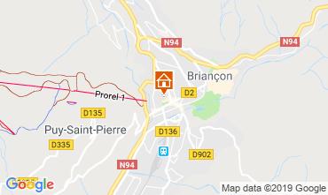 Map Briançon Apartment 117826