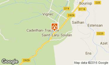 Map Saint Lary Soulan Apartment 102268