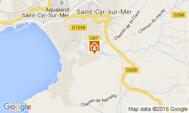 Map Saint Cyr sur Mer One-room apartment 89046