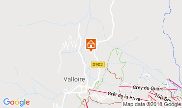 Map Valloire Apartment 116671
