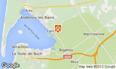 Map Audenge Villa 98474