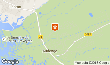 Map Audenge Villa 98474
