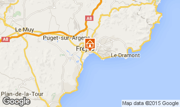 Map Fréjus Apartment 8488