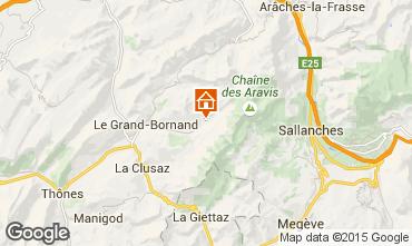 Map Le Grand Bornand Apartment 1369