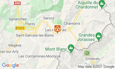 Map Chamonix Mont-Blanc Chalet 1412