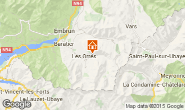 Map Les Orres House 70026