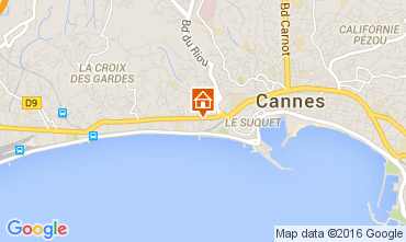 Map Cannes Apartment 104812