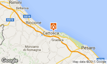 Map Cattolica Apartment 76642