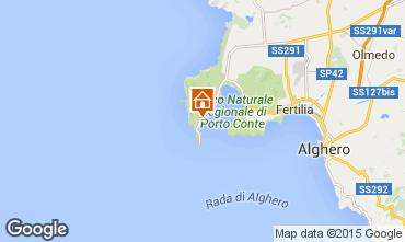 Map Alghero Villa 57483