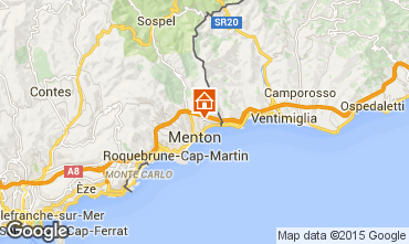 Map Menton Vacation rental 88518