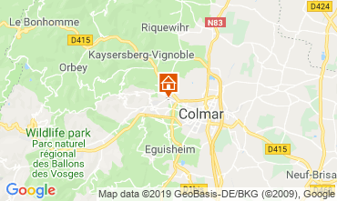 Map Colmar Vacation rental 119196