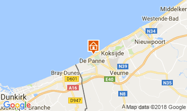 Map De Panne Apartment 115662
