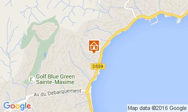 Map Sainte Maxime Apartment 97813