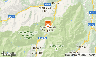 Map Madonna di Campiglio Apartment 50220