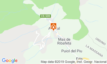 Map Pal-Arinsal Chalet 4740