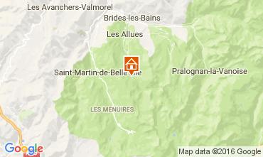 Map Méribel Apartment 107508