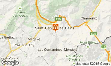 Map Saint Gervais Mont-Blanc Apartment 58587