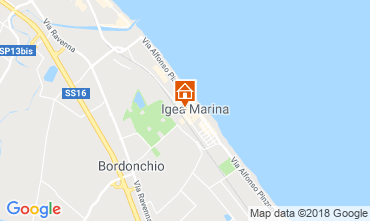 Map Bellaria Igea Marina Apartment 82153