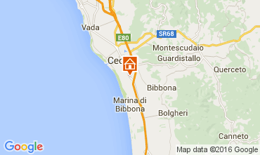 Map Cecina Apartment 67740