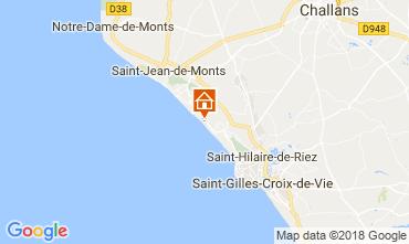 Map Saint Hilaire de Riez Apartment 103867