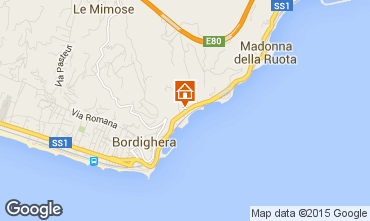 Map Bordighera Apartment 101481