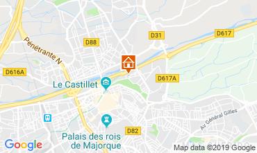 Map Perpignan Apartment 119394