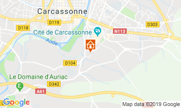 Map Carcassonne Villa 118571