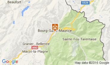 Map Bourg saint Maurice One-room apartment 106038