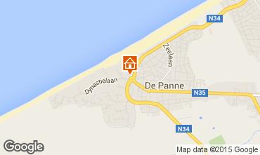 Map De Panne Apartment 91057