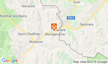 Map Montgenevre Apartment 118603