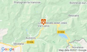 Map Termignon la Vanoise Apartment 49523
