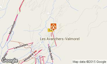 Map Valmorel Apartment 76440