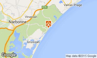 Map Narbonne plage Villa 93844