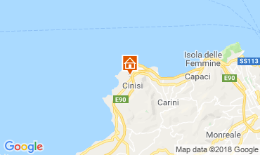Map Cinisi Villa 117095