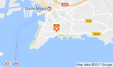 Map Toulon One-room apartment 107828