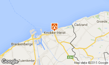 Map Knokke-le-Zoute Apartment 9581