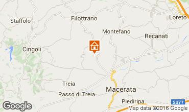 Map Macerata Vacation rental 17670
